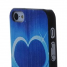 Blue Heart Pattern Protective PC Back Case for Iphone 5 / 5c / 5s - Blue + Black