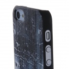 3D Water Lines Pattern Protective PC Back Case for Iphone 5 / 5c / 5s - Black