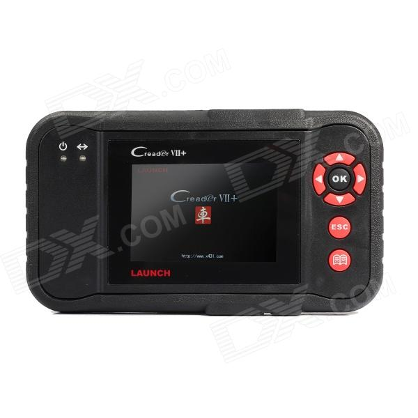 Launch Creader VII+ 3.5 LCD Diagnostic System Code Reader - Red + Black