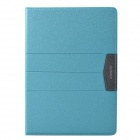 XUNDD Stylish Ultrathin Protective PU Leather Case Cover Stand for Ipad AIR - Light Blue