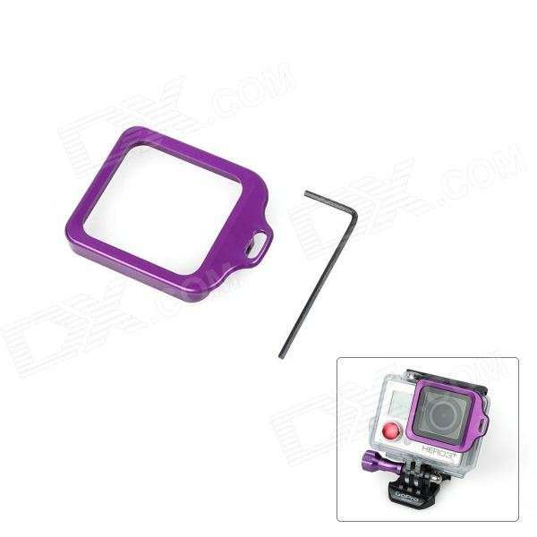 Fat Cat High Precision CNC Alluminum Alloy Lens Strap Ring for Gopro Hero 3+ - Purple hr113 gn high precision cnc aluminum alloy lens strap ring for gopro hero 3 green