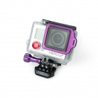 Anel Strap Fat Cat High Precision CNC Alluminum Alloy Lens para GoPro Hero 3 + - Roxo