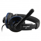 OVLENG Q5 USB 2.0 Headband Stereo Headphone w/ Microphone for Computers - Black + Blue (197cm-Cable)