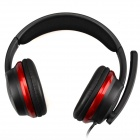 OVLENG S777 Wired Stereo PC Headset w/ Microphone - Black + Red (3.5mm Plug / 175cm-Cable)