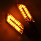 0.5W 60lm 580nm 15-LED Yellow Motorcycle Blade Steering Lamp (4 PCS)