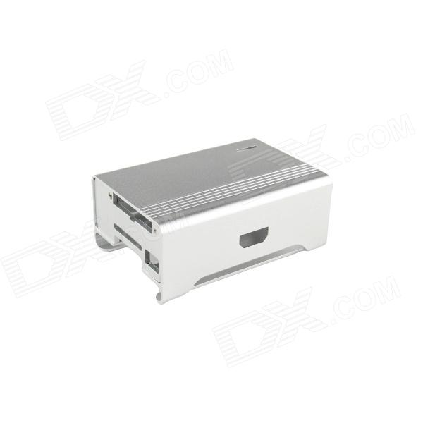 High Quality Protective Aluminum Alloy Case Enclosure Box for Raspberry PI Model B - Silver