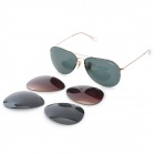 OREKA 3460 Fashion UV400 Protection Sunglasses w/ Replacement Lenses - Golden