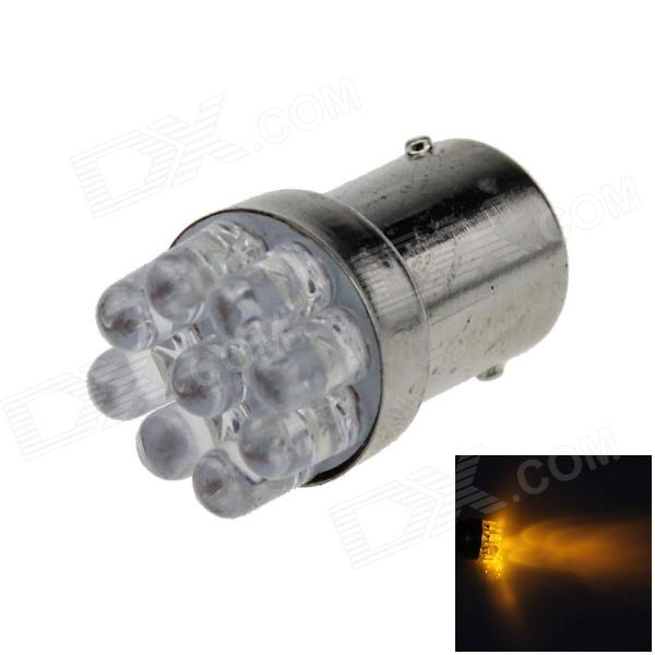 1156 / BA15S / P21W 0.3W 40lm 9-LED Yellow Car Steering Light / Backup Light / Turn Lamp - (12V)