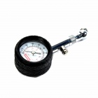 High Precision Mechanical type Tire Pressure Gauge - Black + Silver