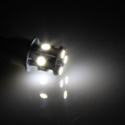 T15 / T13 / 921 1.3W 120lm 6500K 8 x SMD 5050 LED White Car Clearance lamp / Side Light - (12V)