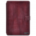 Zenus Protective Head Layer Cowhide Case Stand w/ Auto Sleep Cover for Retina Ipad MINI - Rufous