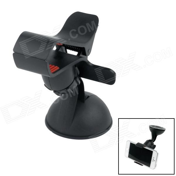 360 Degree Rotation Car Suction Cup Stand Holder Mount Bracket for GPS / Cell Phone - Black + Red stainless steel watch band 18mm 20mm 22mm for rolex curved end strap butterfly buckle belt wrist bracelet black gold silver