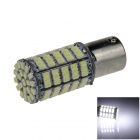 1156 / BA15S / P21W 5W 400lm 127 x SMD 1206 LED White Car Backup Light / Steering Lamp - (12V)