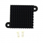 Jtron High Performance Aluminum Heatsink Radiator / Chip CPU Radiator - Black (35 x 35 x 10mm)
