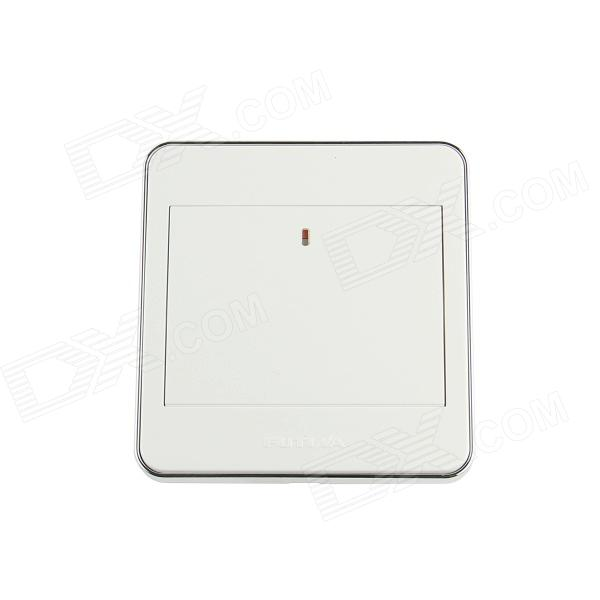Futina High Quality Mirror Panel 1-Gang Power Control Wall Switch - White (110~250V) 3 gang 1 way touch screen wall switch for lamp touch switch white uk standard