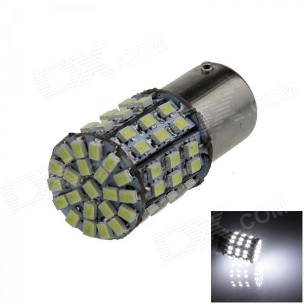 1156 / BA15S / P21W 4W 300lm 64 x SMD 1206 LED White Car Backup Light / Steering / Tail Lamp - (12V)