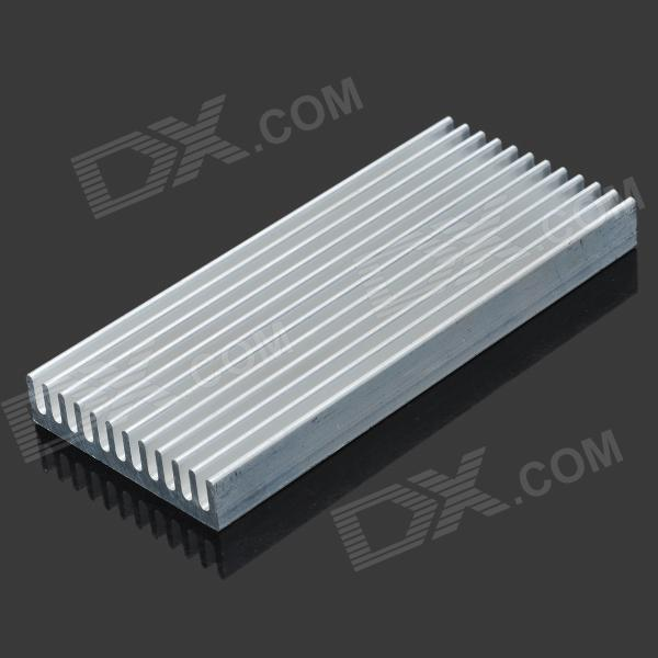 Jtron Aluminum Heat Sink / Electronic Radiator / Cooling Aluminum Block - Silver (100 x 45 x 10mm) high quality cpu aluminum heat sink 80 80 150mm electronic aluminum alloy air cooled radiator can install fan aluminous profile