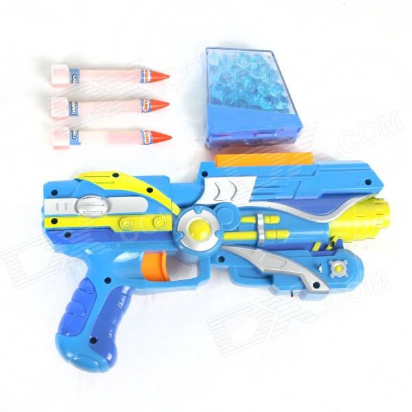 Safest Manual Soft Gun w/ 1500 Bullets - Blue + Yellow