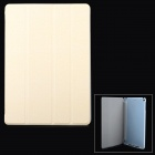 Protective PU + Plastic Flip-Open Smart Case w/ Stand for Ipad AIR - Beige