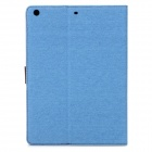 Protective PU Flip-Open Case w/ Card Slots / Stand for Ipad AIR - Sky Blue + Brown