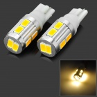 T10 3W 160lm 3500K 10-SMD 5630 LED Warm White Car Steering Lights (12~24V / 2 PCS)