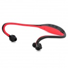 Modische Sport-MP3-Player-Kopfhörer w / TF - Dark Red + Black