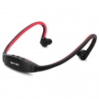 Fashionable Sport MP3 Player Headphones w/ TF - Dark Red + Black