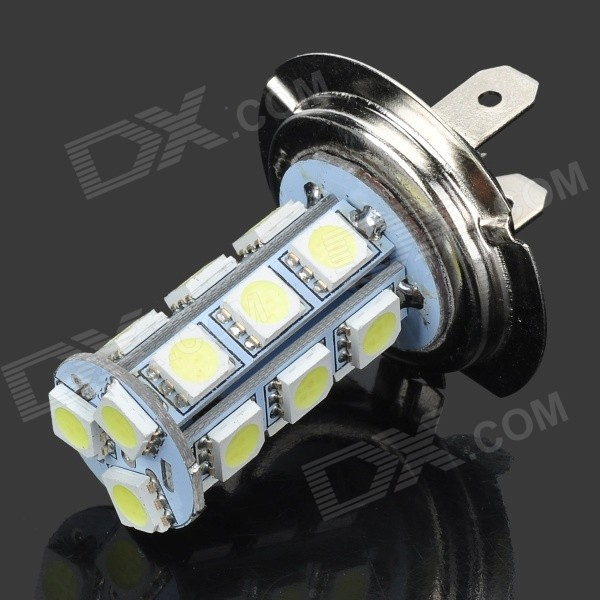 H7 18 x 5050 White Light Bulb (12V 2.7W) forex b016 h 5050