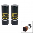 MIXUAN Retractable Cosmetic Make Up Powder Brush - Black  (2 PCS)