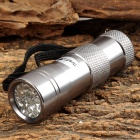 UltraFire 3W 12-LED 405nm Purple Flashlight - Silver (3 x AAA)