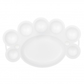 ABS Nail Art Paint Mixing Plate / Palette - White