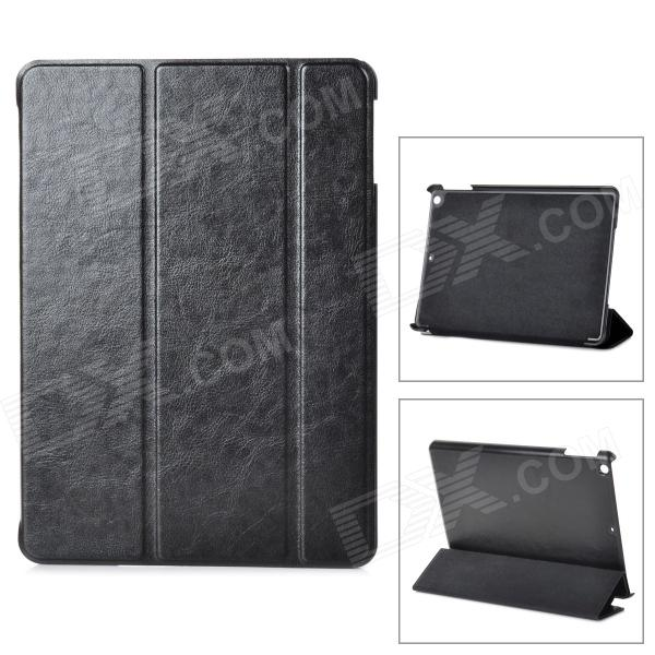 Classic Flip-open PU Leather Case w/ Auto Sleep + Holder for Ipad AIR - Black case for new ipad 2017 9 7 sketch cat series auto sleep wake up flip pu leather model a1822 a1823 smart cover