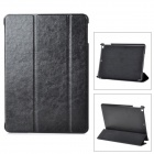 Classic Flip-open PU Leather Case w/ Auto Sleep + Holder for Ipad AIR - Black