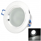 HESION HS03003A 2.5'' 3W 290lm 6000K 3-LED White Light Ceiling Light - Silver (AC 85~265V)