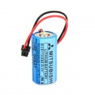 MITSUBISHI CR17335SE-R / Q6BAT 3V Lithium Industrial Battery w/ Plug - Cyan + Black + Multi-Colored
