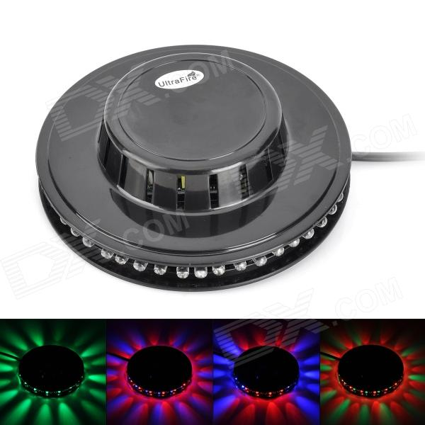 UltraFire Mini-LED 8W 48-LED RGB Round Stage Light Plate - Black (100~240V)