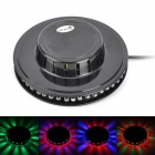 Ultrafire Mini-LED 8W 48 LED RGB Round Stage Light Plate - Schwarz (100-240V)