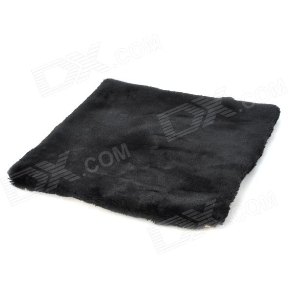JUQI Car Plush Seat Cushion - Black