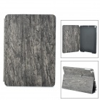 Wood Pattern Protective PU Full Body Case w/ Stand / Auto-Sleep for Ipad AIR - Grey