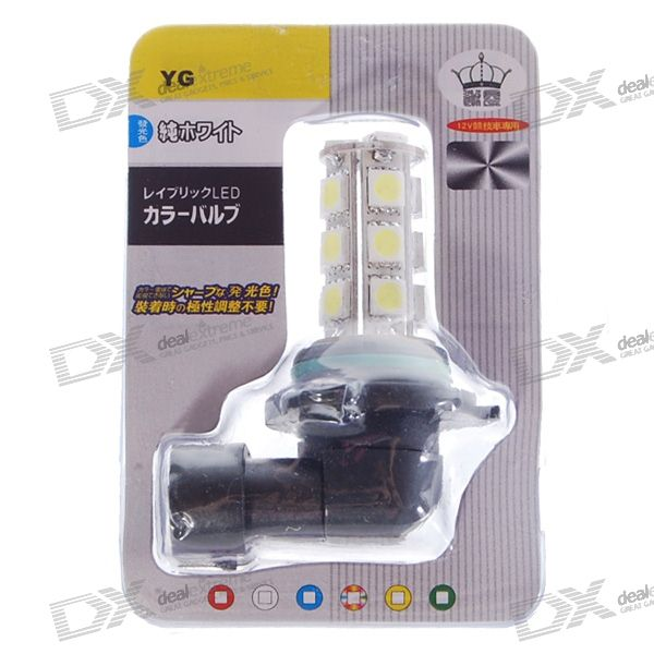 9006 18 x 5050 White Light Bulb (12V 2.7W)