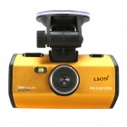 "LSON K1000-2 2.4"" LCD 5.0 MP CMOS 1080P Car DVR w/ HDMI / TV OUT - Wheat + Black"