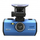 "LSON K1000-2 2.4"" LCD 5.0 MP CMOS 1080P Car DVR w/ HDMI / TV OUT - Black + Dark Blue"