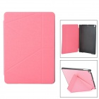 Protective PU Flip-Open Case w/ Stand / Auto-Sleep for Ipad AIR - Pink