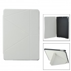 Protective PU Flip-open Case w/ Stand / Auto-Sleep for Ipad AIR - White