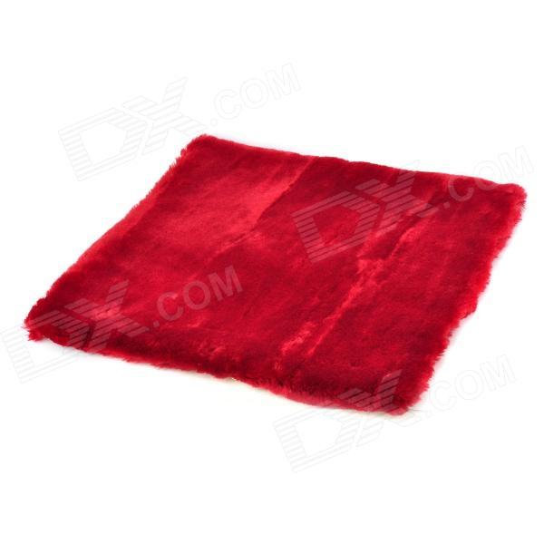 JUQI Car Plush Seat Cushion - Claret Red