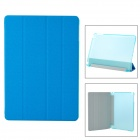 Protective PU + Plastic Flip-Open Case w/ Stand / Auto-Sleep for Ipad AIR - Blue