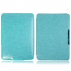 Handheld Protective PU Leather Case Cover for Amazon Kindle Paperwhite - Light Blue