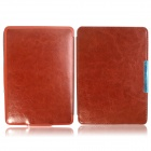 Hand Support Function Protective Leather Case for Amazon Kindle Paperwhite - Brown
