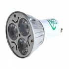 XYT XYT-6WSD GU10 6W 600lm 3500K 3 SMD LED Warm White Light Spotlight - White (AC 85~265V)