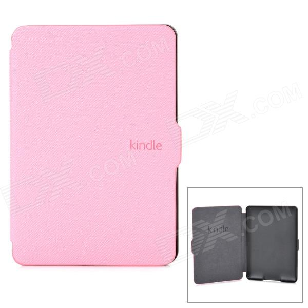 Ultrathin Protective PU Leather Case w/ Auto Sleep for Kindle Paperwhite - Pink cartoon painted flower owl for kindle paperwhite 1 2 3 case flip bracket stand pu cover for amazon kindle paperwhite 1 2 3 case